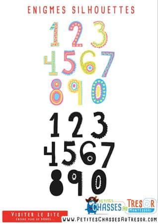 Enigme pour enfant sur les chiffres