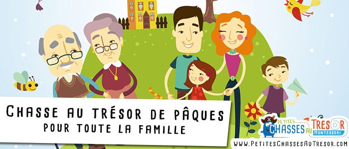 Chasse au trésor de pâques à faire en famille