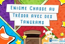 Enigme pour chasse au trésor avec des tangrams