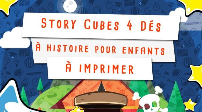 Story cubes à imprimer pour raconter des histoire avec les enfants
