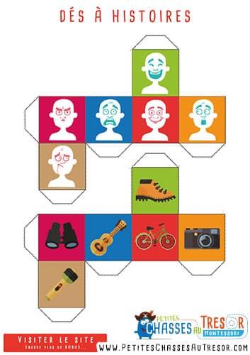 Story cubes 4 d s histoire pour enfants imprimer Magasin de bricolage pour enfant