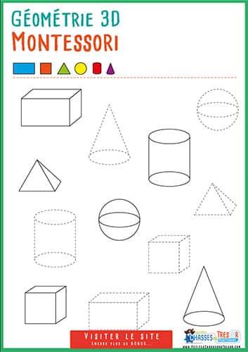 Activité géométrie pour enfant