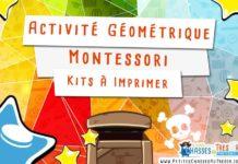 Activité Montessori de géométrie pour les maternelles