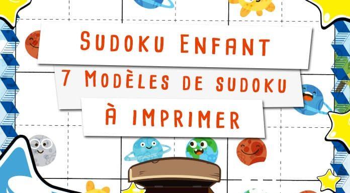 Sudoku enfant à imprimer