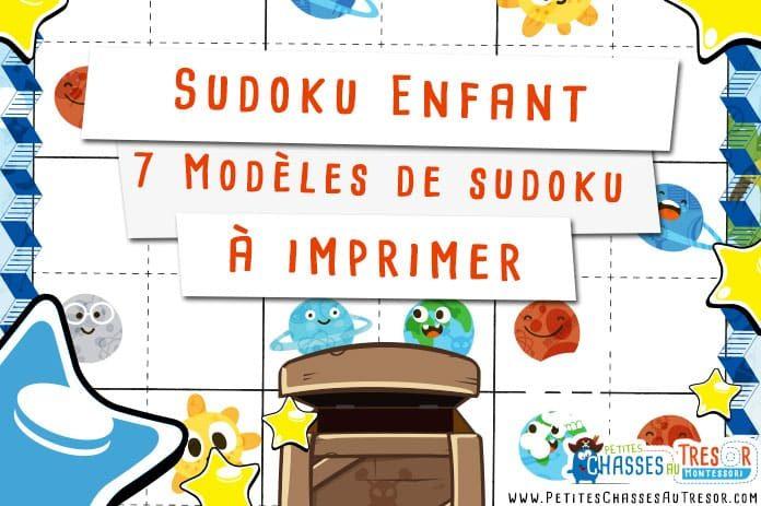 Sudoku Enfant 7 Kits De Sudoku Pour Enfant à Imprimer
