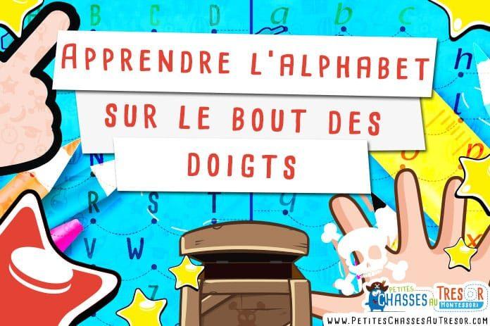 Très Apprendre l'alphabet sur le bout des doigts - Kit pour enfants AS92