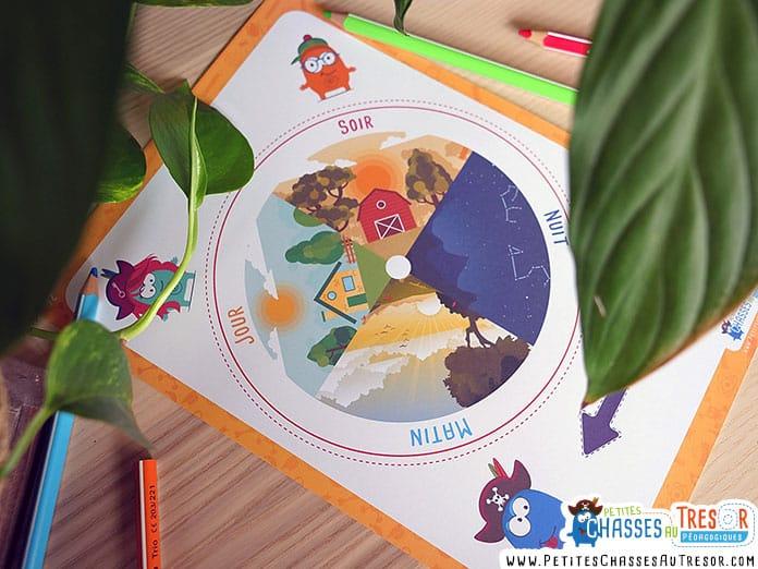 Roue horloge pour enfant