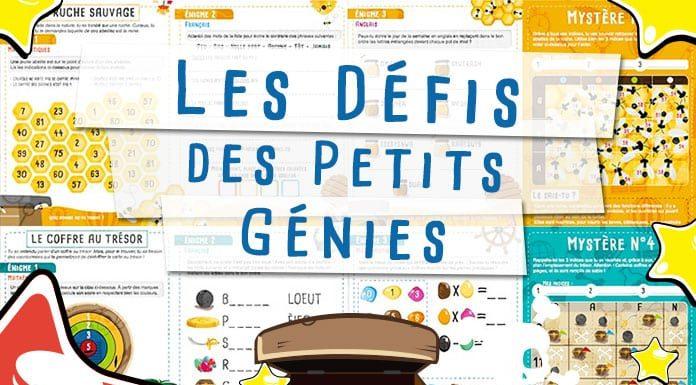 Les défis des petits génies cahiers de vacances ludiques pour enfants