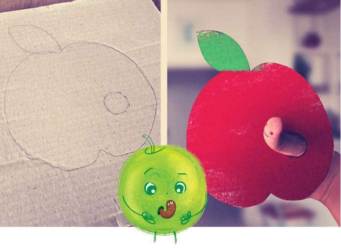 Manger des pommes en s'amusant une activité pour enfants sur les fruits