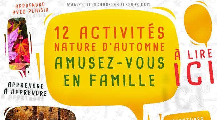 Activités nature pour l'automne