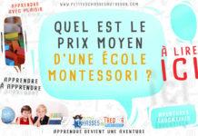Prix d'une école alternative Montessori