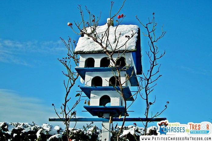 Nichoir à oiseau pour l'hiver