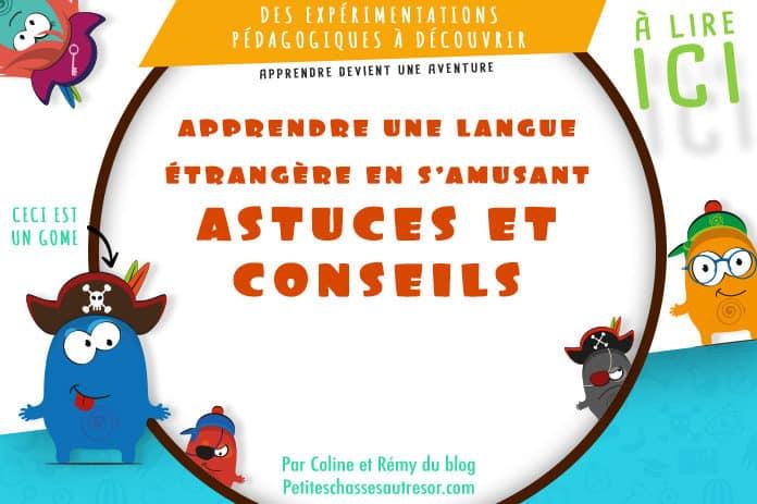 Apprendre une langue aux enfants en s'amusant