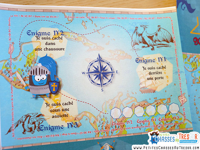 Carte au trésor pour les enfants de 6 ans